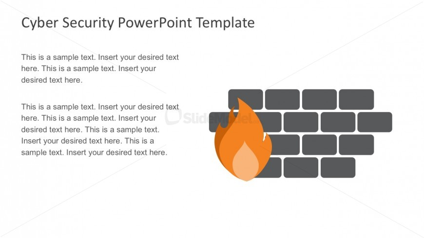 Editabe Firewall Cyber Security PowerPoint Slides