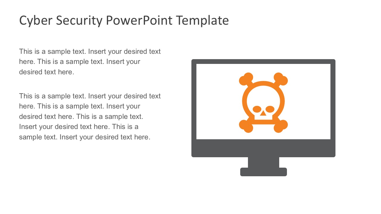 Computer Network Security System PowerPoint Theme