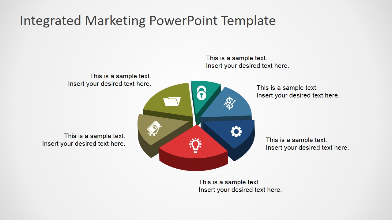3d pie chart for powerpoint with icons slidemodel nvjuhfo Image collections