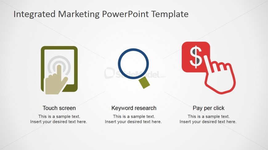 ppc strategy template - touch screen search and ppc clipart for powerpoint