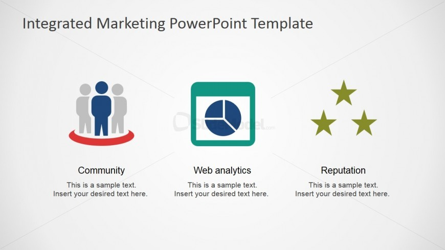 PowerPoint Shapes Featuring Community - Web Analytics and Online Reputation