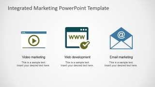 PowerPoint Shapes Featuring Web Development - Video and Email Marketing