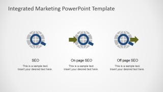 SEO Shapes for PowerPoint Featuring On Page and Off Page