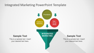 PowerPoint Flat Funnel Diagram Integrated Marketing Communications
