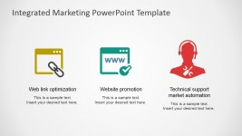 Website Promotion and Web Link Optimization Flat PowerPoint Icons