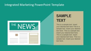 PowerPoint Shapes of a Newspaper