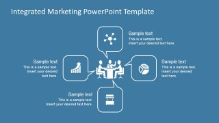 PowerPoint Diagram of Integrated Marketing Communication