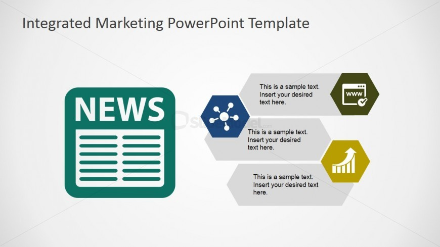 Newspaper Marketing Channel Powerpoint Shapes - Slidemodel