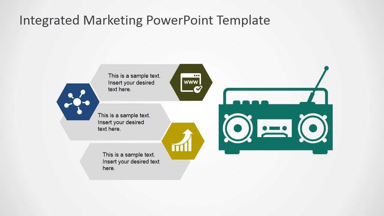 Integrated marketing communications powerpoint template slidemodel powerpoint shapes of radio as marketing channel toneelgroepblik Images