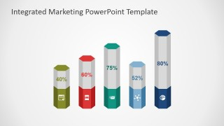 PowerPoint Column Chart of Hexagonal Base