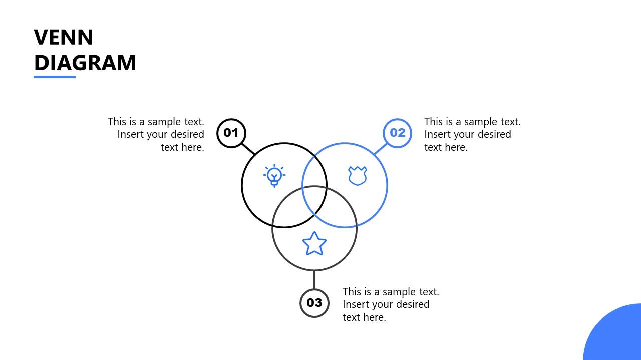 PowerPoint Template for Startup Venn Diagram