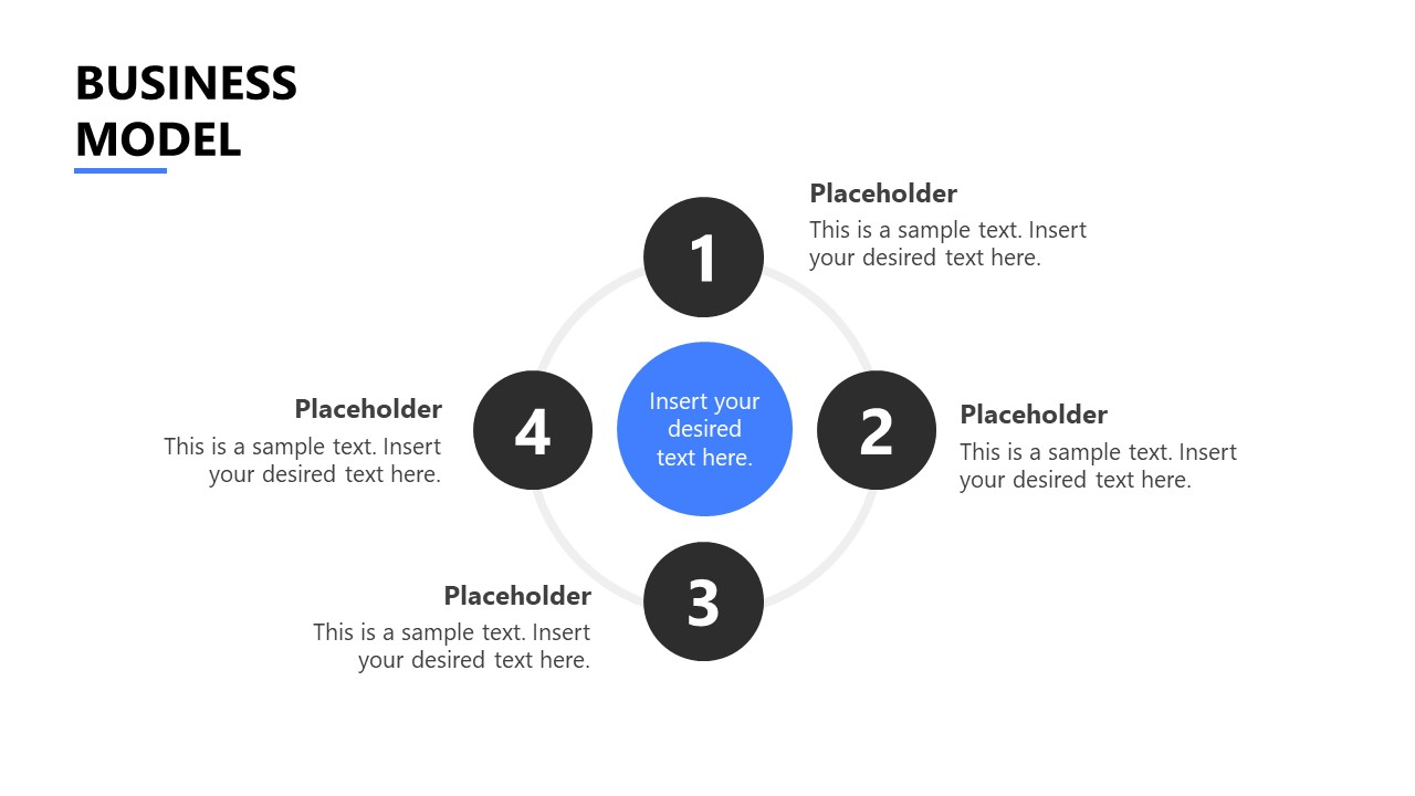 PowerPoint Template for Startup 4 Step Model
