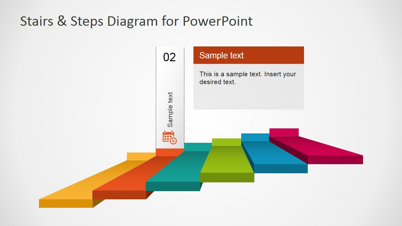 ... PowerPoint 6 Steps Diagram With Calendar Second Step ...
