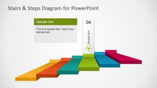 PowerPoint Diagram of 6 Steps Stair with Third Step Highlight