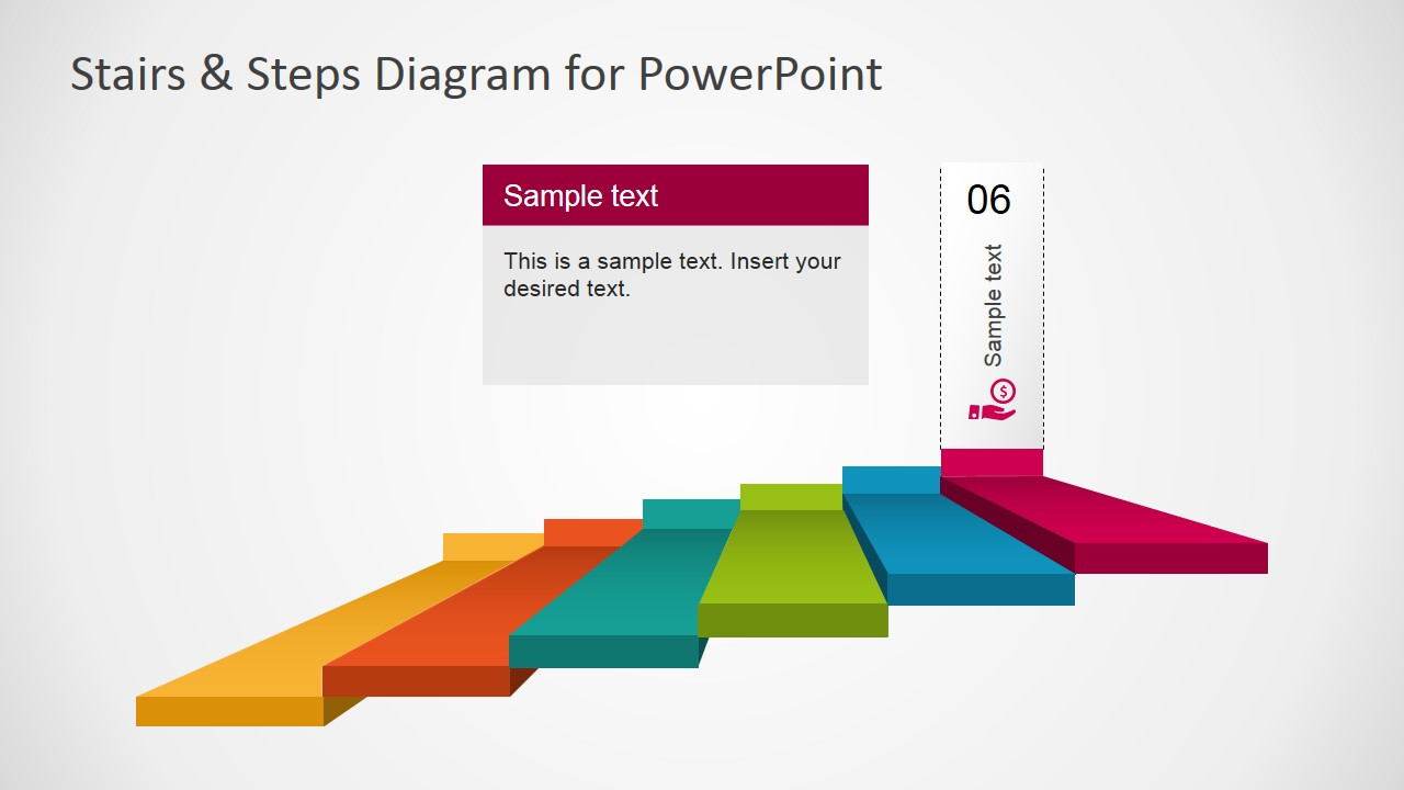 Stair Diagram Template For Powerpoint