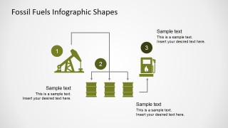 PowerPoint Infographic Featuring Oil Extraction Process