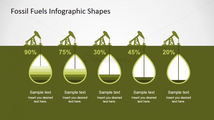 oil extraction powerpoint infographic chart