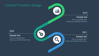 PowerPoint Timeline and Planning Second Half Diagram