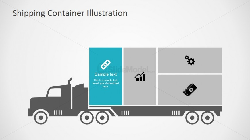 PowerPoint Clipart Truck with Link Icon