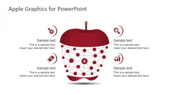 Apple Clipart Infographics for PowerPoint