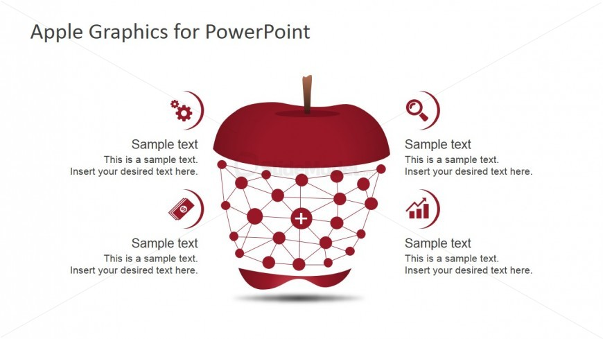 PowerPoint Apple Shapes for Infographics