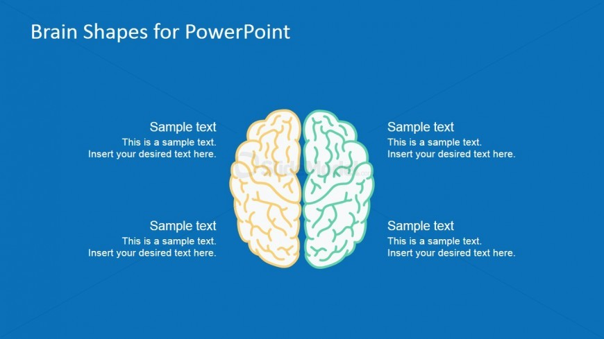 Brain PowerPoint Template For Problem Solving