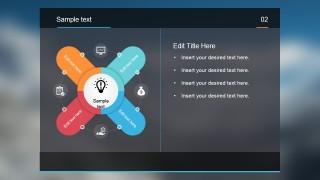 PowerPoint Diagram over Blur Background