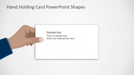 Thank You Flat Hand Design For PowerPoint