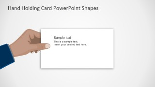 PPT Template Flat Hand Design