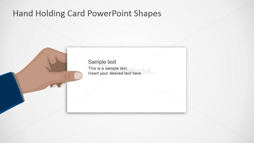 PPT Template Flat Hand Design