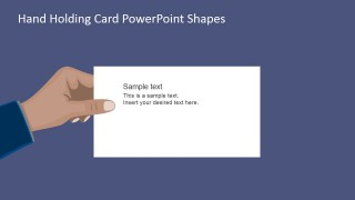 PPT Template Flat Hand Holding Banner