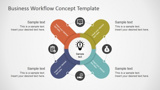 Workflow powerpoint templates business workflow concept template for powerpoint toneelgroepblik Gallery