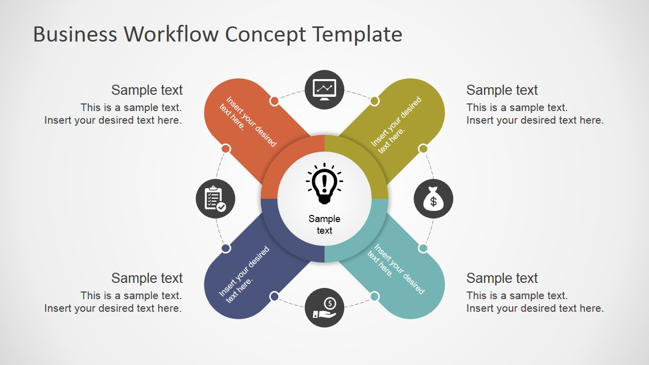 business workflow concept template for powerpoint - slidemodel, Presentation templates