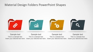 PPT Template Flat Document Folders Icons