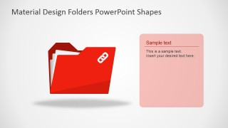 PPT Shapes of Flat Document Folders