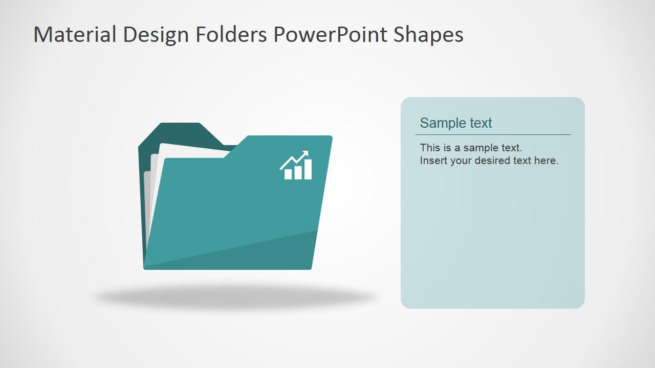 PPT Template Flat Design Folder Shapes