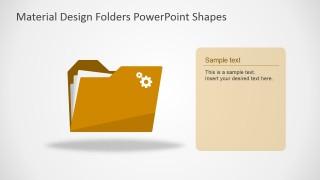 Flat Design PPT Template Shapes
