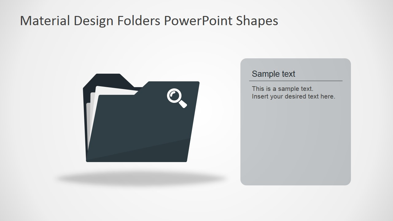 Material design folders powerpoint shapes slidemodel ppt template document folder toneelgroepblik Choice Image