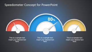 Speedometer Concept for PowerPoint Dashboard