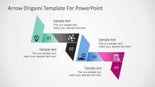 Free 3D Arrow Origami PowerPoint Template