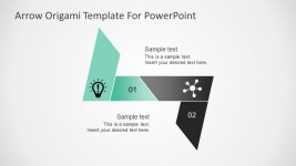 Free Origami PowerPoint Template with Arrows