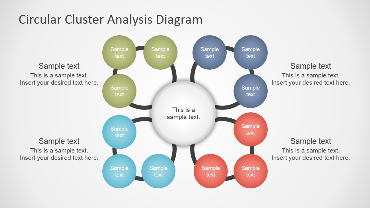 cluster analysis concept diagram for powerpoint