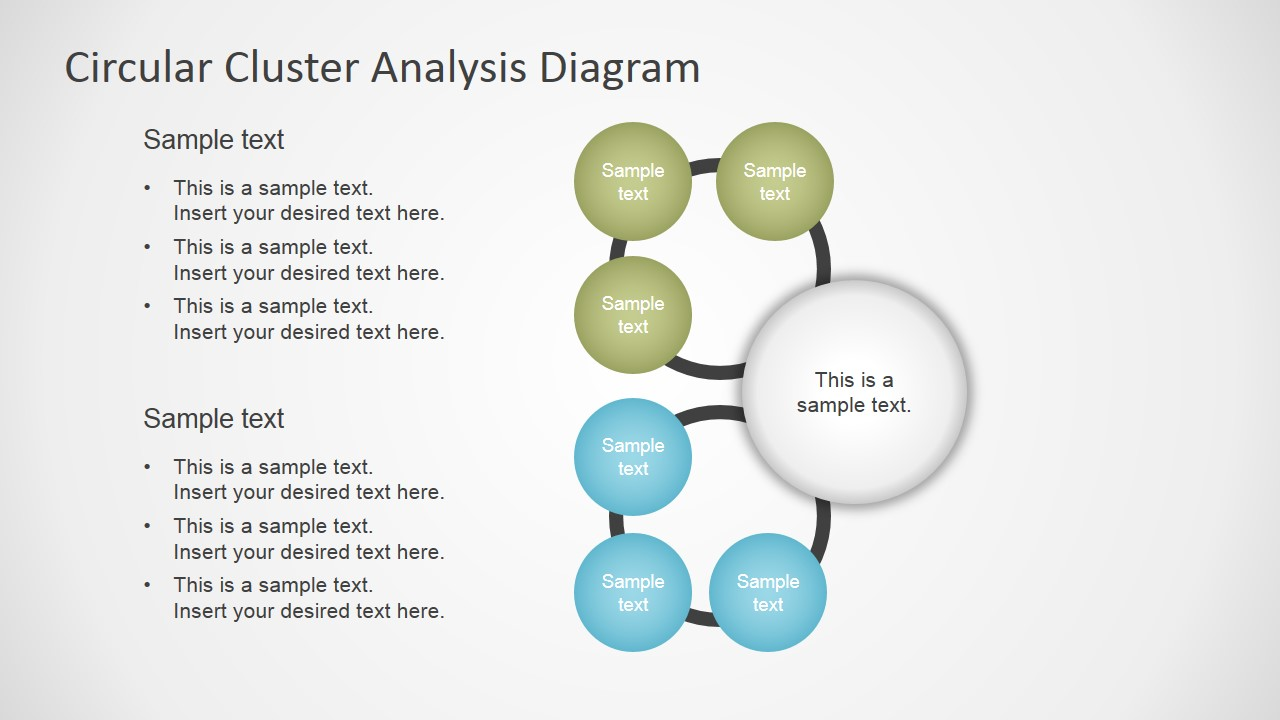 Cluster analysis concept diagram for powerpoint slidemodel ccuart Image collections