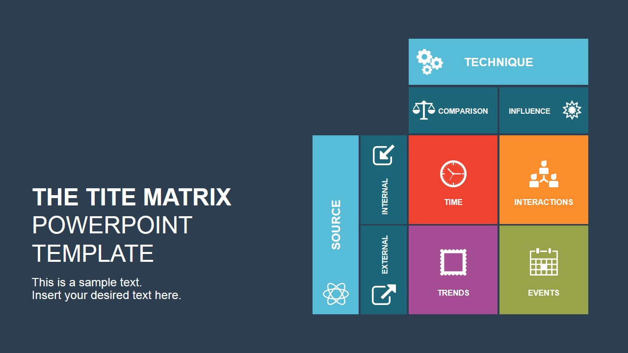 the tite matrix powerpoint template - slidemodel, Powerpoint templates