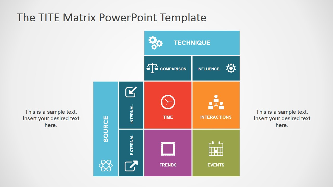 the tite matrix powerpoint template slidemodel