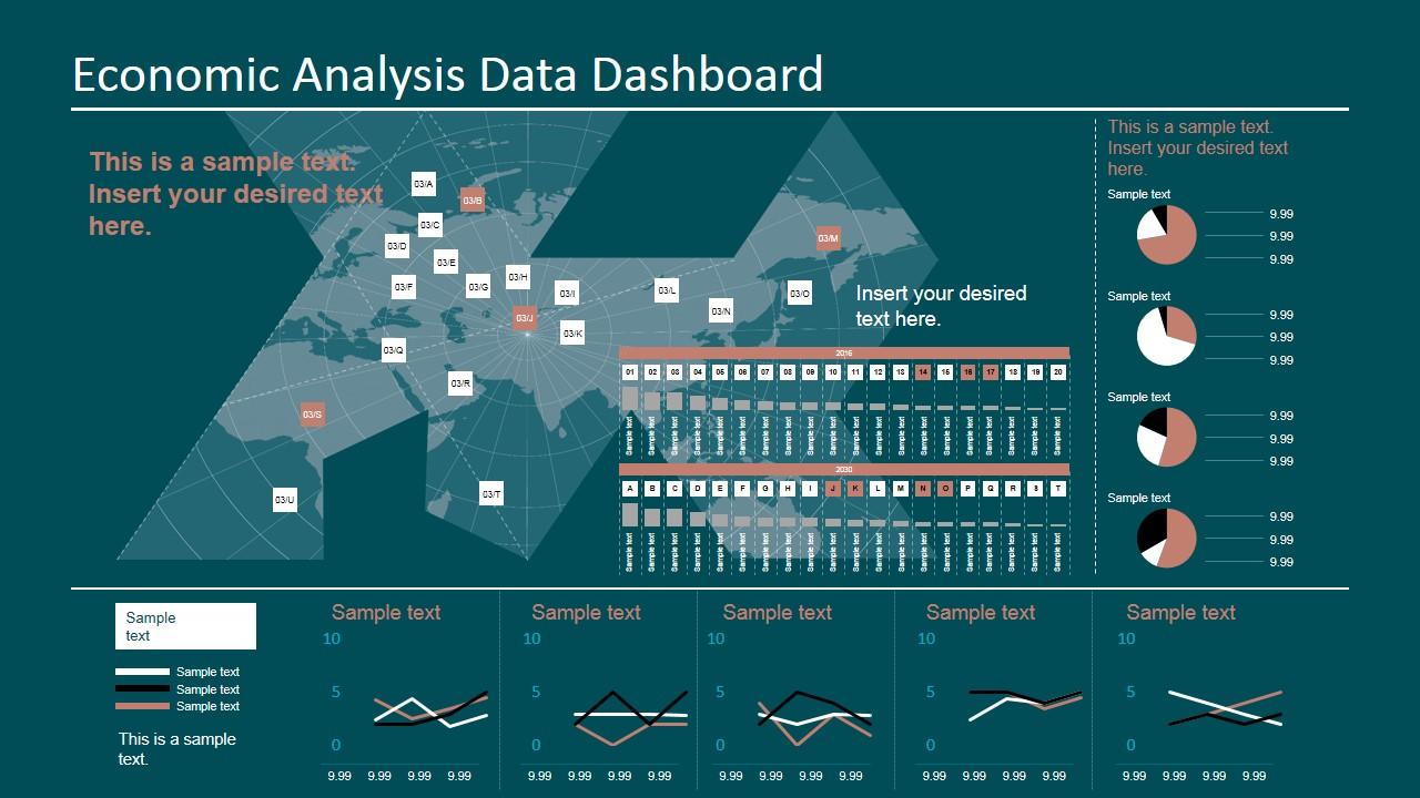 economic analysis data dashboard for powerpoint