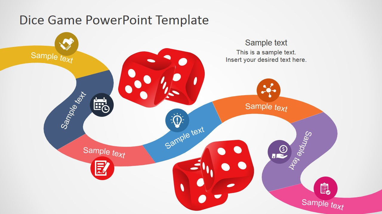 board game roadmap design for powerpoint  slidemodel, Powerpoint