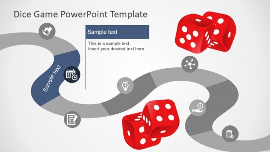 Board Game Metaphor PowerPoint Roadmap Design