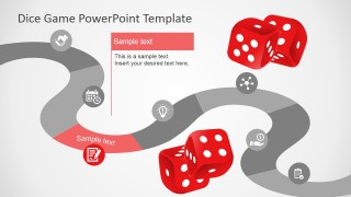 PowerPoint Roadmap Slide Design Inpired in Board Game