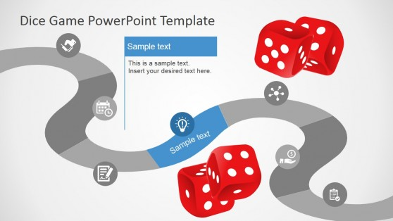 Flat Design Game Board Timeline for PowerPoint